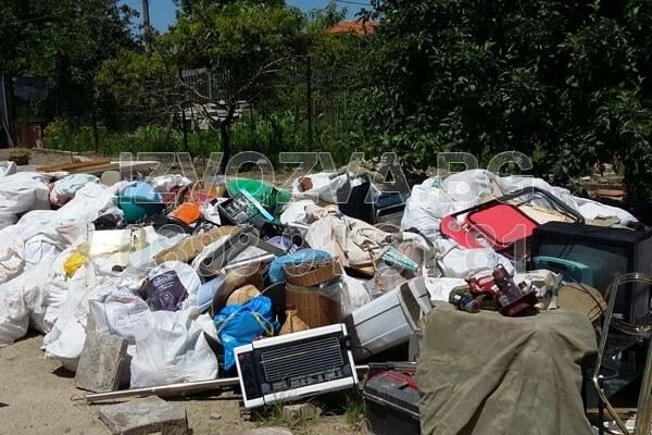 Почиства дворове от клони и отпадъци