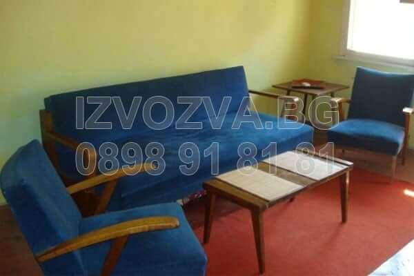 Изнася стари мебели в София