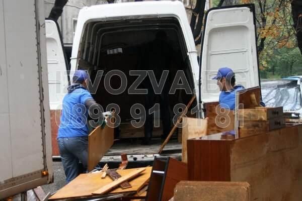 Извозване на шкафове, маси и ненужни вещи