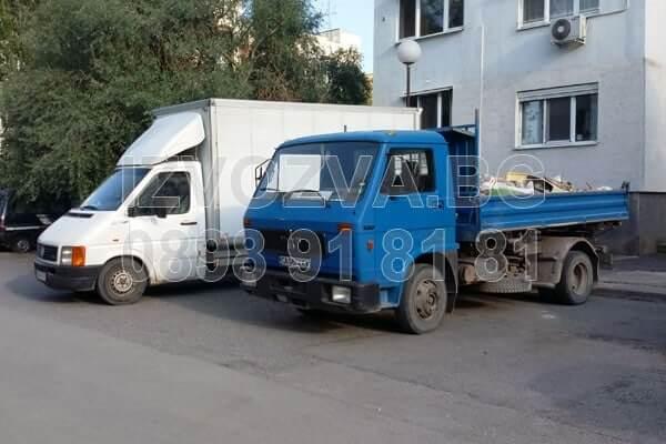бус за извозване на строителни отпадъци